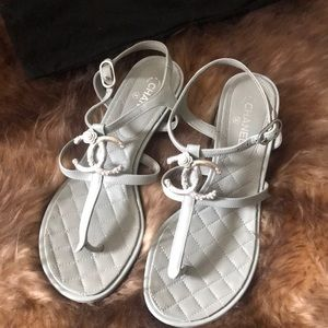 Authentic Chanel sandals. Small heels
